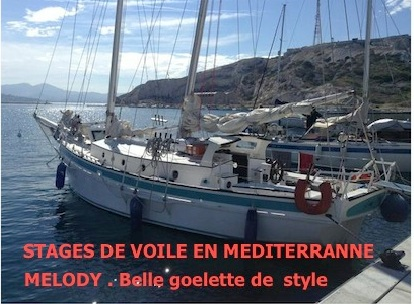 Stage voile croisiere sur Melody