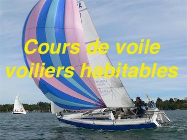 Cours de voile voiliers habitables