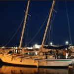 croisiere voile goélette de nuit au port